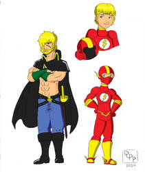 Aquaman y Flash Mangaverso by DLPP