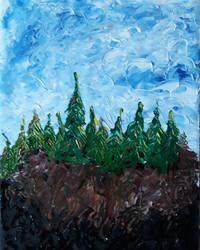 Trees on a ridge by LetMeMakeArt