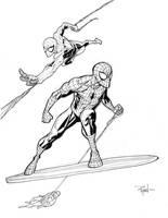 Spidey VS the Silver Surfer by RyanOttley