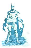 BATMAN blue by RyanOttley