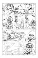 Invincible 52 page 9 pencils by RyanOttley