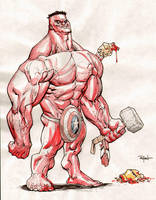Red Hulk by RyanOttley