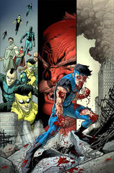Invincible 12 TPB cover by RyanOttley