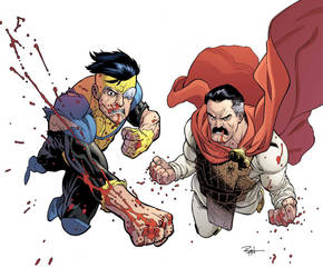 Invincible and Omni-man by RyanOttley