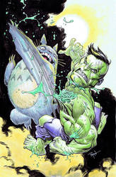 Hulk VS Totoro by RyanOttley