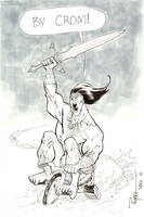 SDCC Conan on a big wheel by RyanOttley
