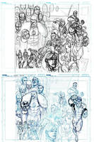 INVINCIBLE 7th HC cover layout and pencils by RyanOttley