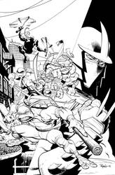 Hi-re TMNT cover for you to COLORRRRRRRRRRRRR by RyanOttley