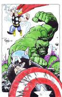 Hulk Cap Thor by RyanOttley