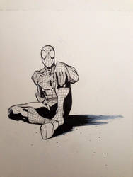 Spider-man relaxing by RyanOttley