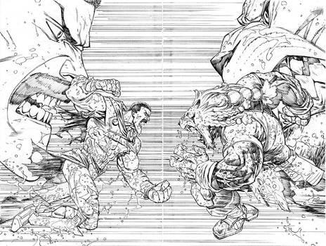 Thragg vs Battle Beast by RyanOttley