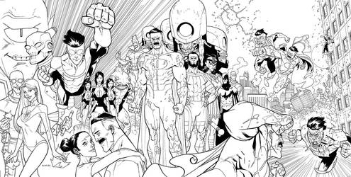 INVINCIBLE Triptych cover by RyanOttley
