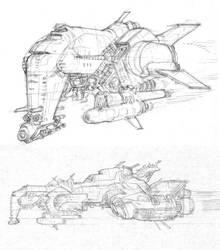 spaceship designs by RyanOttley