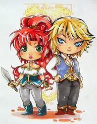 Shannah and Kei by Sanoe by iridesia