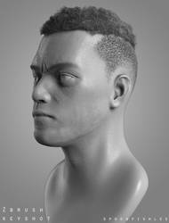 Rami Malek sculpt by SpoonfishLee