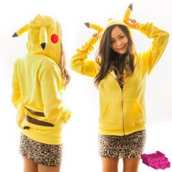 Pikachu Hoodie DIY (Patterns Provided) by kawaiikakkoiisugoi