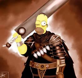 Guts-Homer by maaariano