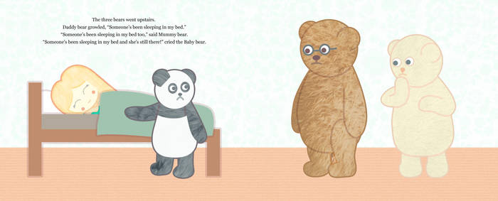 Goldilocks And The Three Teddy Bears 5 by hallatt