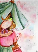 Rain girl by LohiAxel