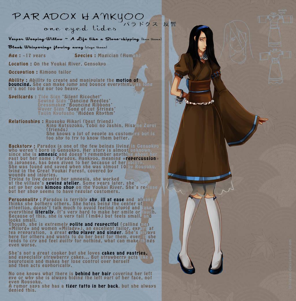 FC Character Sheet - Paradox Hankyoo by LohiAxel