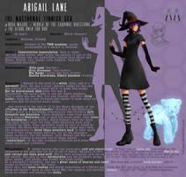 OC Character Sheet - Abigail Lane by LohiAxel