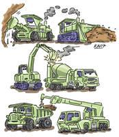 pixar's cars constructicons by kaeae