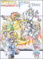 Koopa vs. Mecha-Yoshi by Toasty-kun