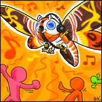 Oekaki: Dance Dance Mothra by Toasty-kun