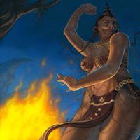LoN -- Ogre Priestess by b-nine