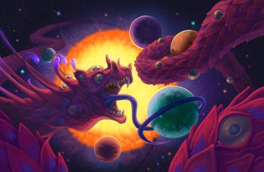 Space Dragon by b-nine