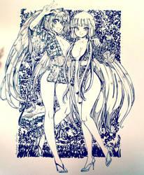 Miku and Chii by AsukaraMaster by JMJGRANGER