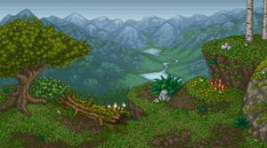 Mountain Scene by BBreakfast