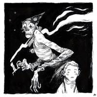 ghost clown 2 b/w by marklaszlo666