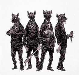 hyenas by marklaszlo666