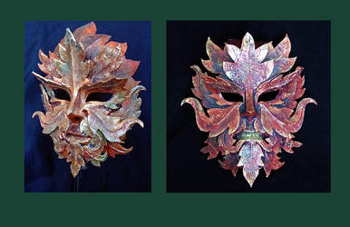 Green Man - Autumn Mask by xothique