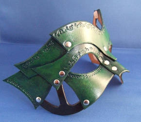 Green Steampunk Eyemask by xothique