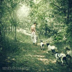 the shepherdess by phoenixgraphixstudio