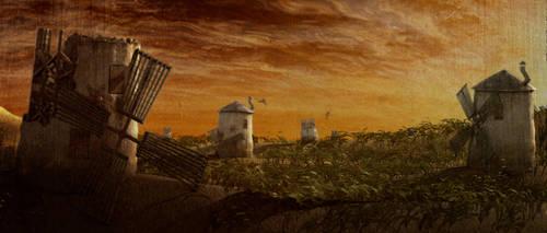Windmills by JACKIEpainting