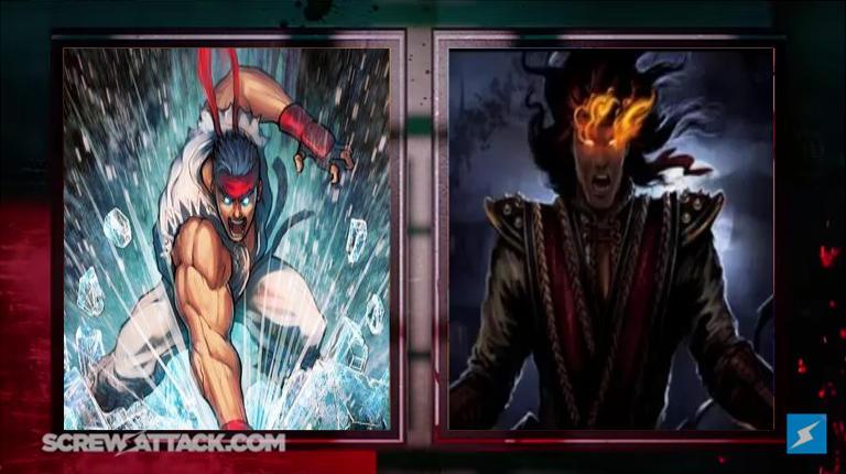 Ryu vs. Liu Kang by MadnessAbe