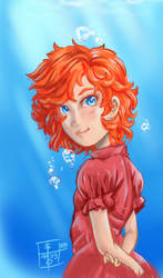 50 Day Sketches. #5: Ponyo by PacoSantoyo