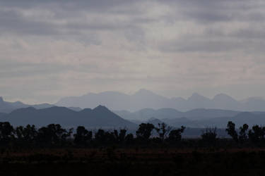 Hazy Mountains by destroyerofducks