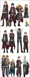 Harry Potter Anime by kaileyrox