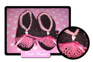 Pink heart slippers by Erikor