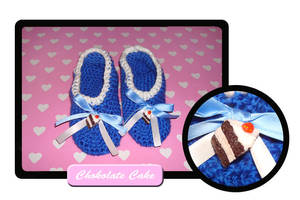 Chocolate cake slippers by Erikor