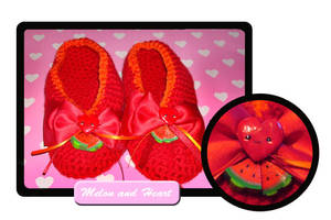 Heart and melon slippers by Erikor