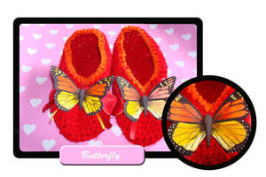 Butterfly slippers by Erikor