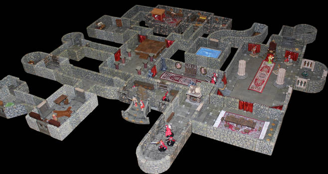 Castle Korvosa Ileosa throne room level 2 by MrVergee