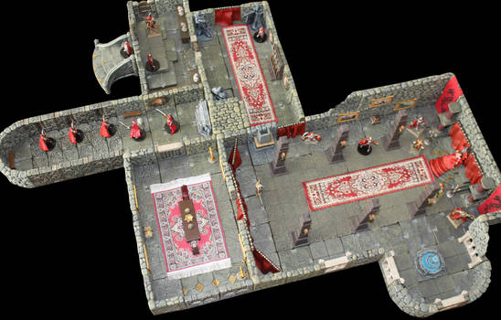 Castle Korvosa Ileosa throne room alternative by MrVergee