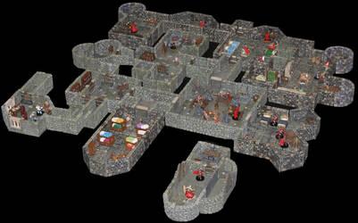 Castle Korvosa first floor kitchen level by MrVergee