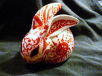 Okami themed rabbit by LonelyFishy